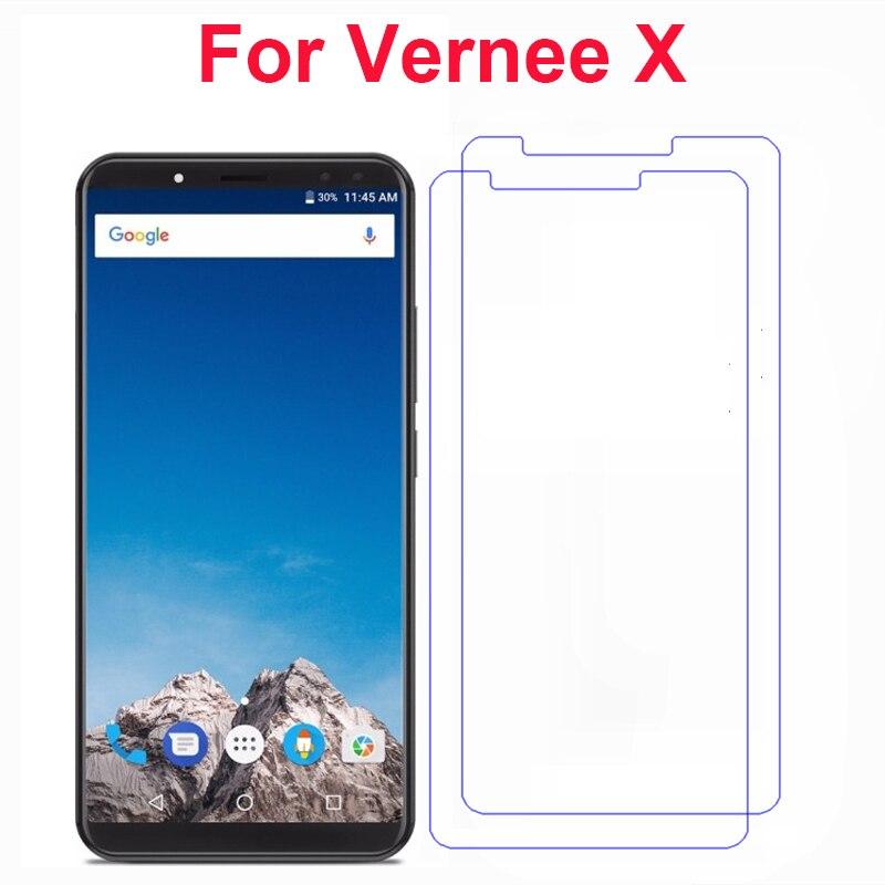 2 шт для Vernee X Закаленное стекло крышка 9H 2.5D ультра-тонкие пленки на переднюю панель телефона Защита экрана для Vernee X Чехол для мобильного телефона