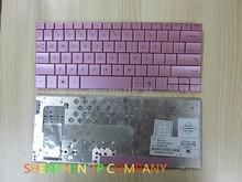 Nouveau clavier dordinateur portable original pour hp mini110 mini 110 version américaine couleur rose disposition américaine