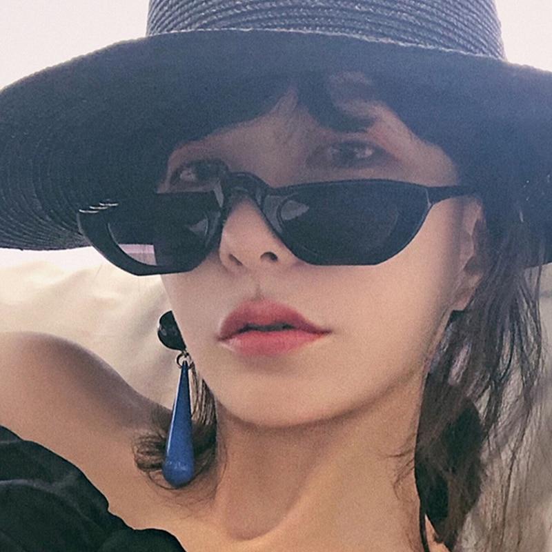 Vintage Sunglasses Women Cat Eye Luxury Brand Designer Sun Glasses Retro Small Red ladies Sunglasses
