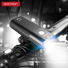 Gaciron 1800 люмен велосипедные фары для велосипеда 6700 мАч Внешний аккумулятор Перезаряжаемый MTB дорожный велосипед фара 2 * светодиодный водонепроницаемый фонарик