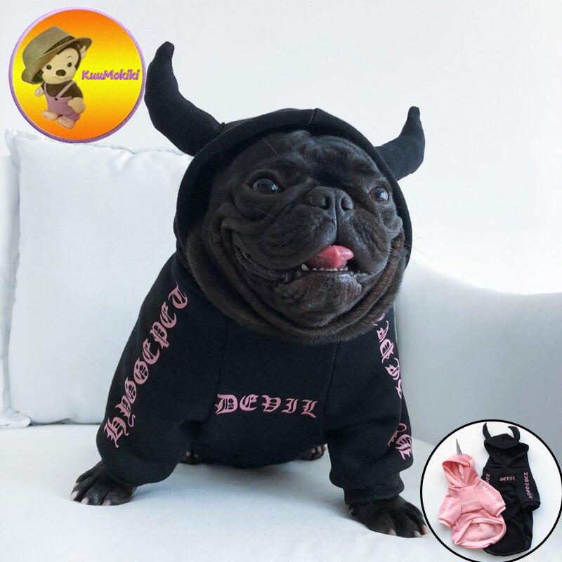 Ropa para perros y cachorros de XS-2XL, Vestidos para mascotas, disfraz de unicornio Diablo, abrigos de Gato, ropa de Halloween para perros y Bulldog Francés