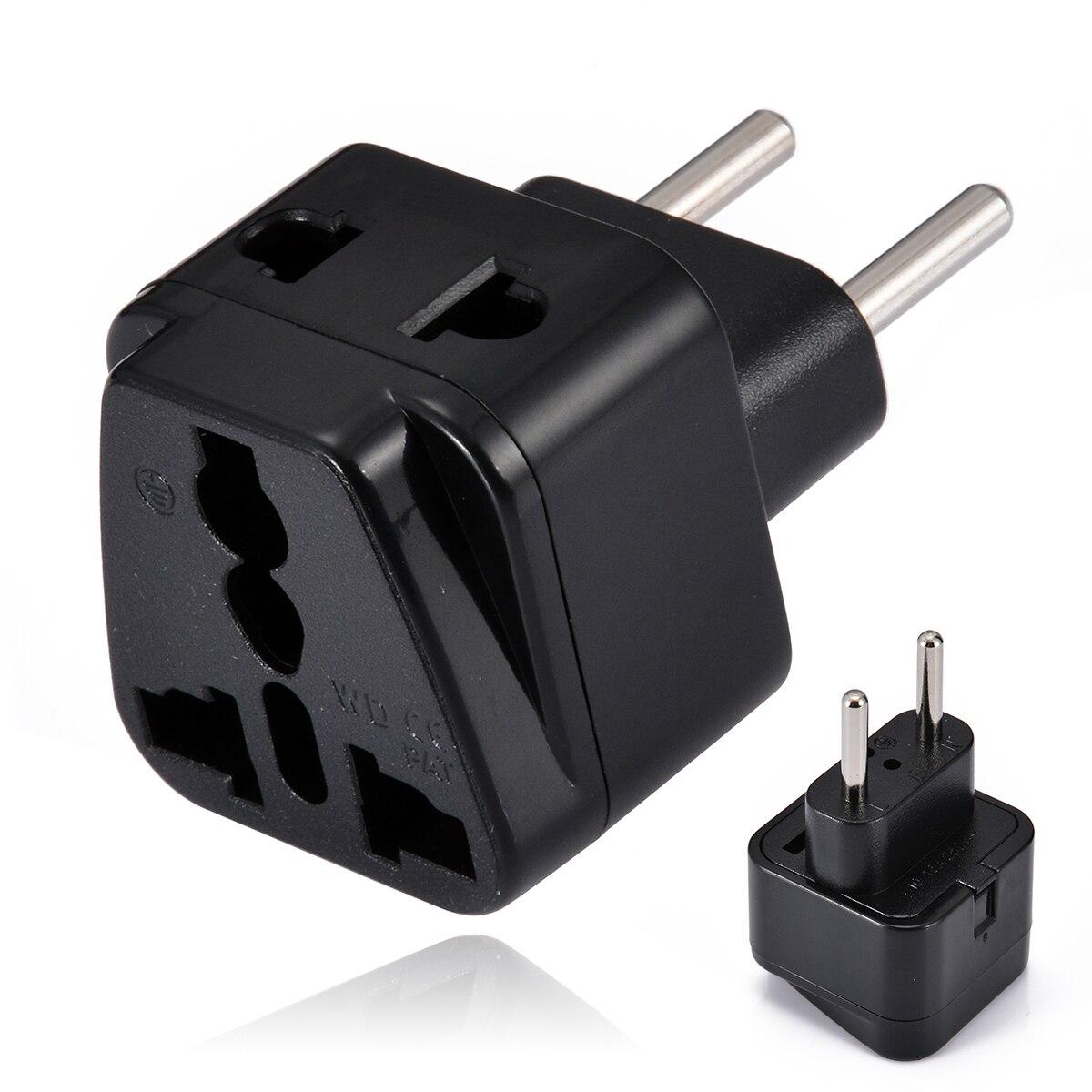 Mayitr Electric Plug Universal Travel Socket 1 to 2 UK/US/EU/AU Outlet to EU/Brazil/Israel Splitter Plug Adapter Charger