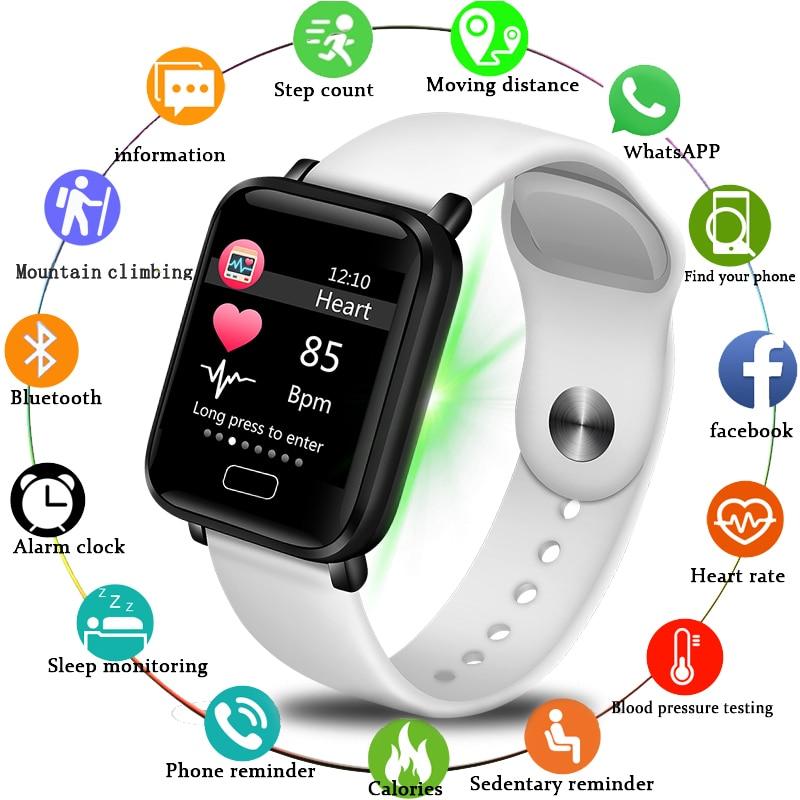 LIGE 2019 новые умные часы для мужчин, пульсометр, кровяное давление, шагомер, часы, спортивные часы, умные часы, фитнес-трекер для Android IOS