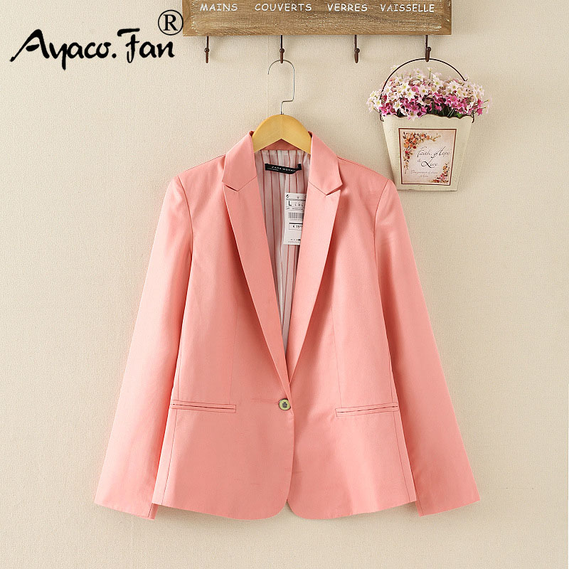 2019 Spring Autumn Candy Color Blazer for Women Female Single Button Blazers Suit Foldable Jacket Ladies Refresh Blazer Coat New