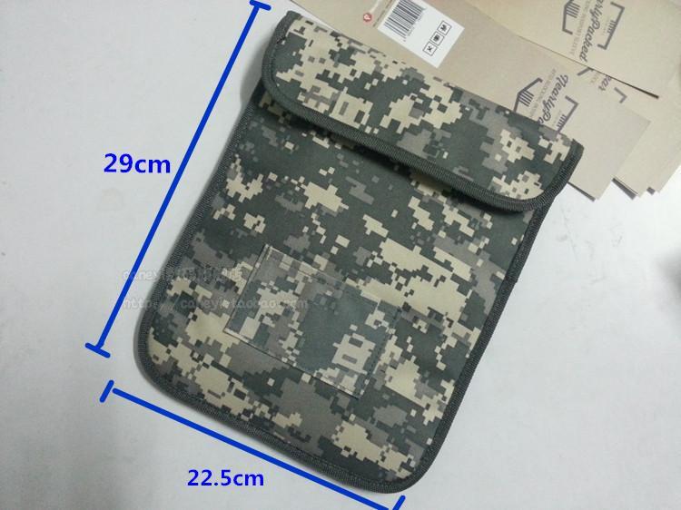 Nuevo bloqueador de señal Ymitn, bolsa de camuflaje militar, rastreo RFID y escuchas, Protector de privacidad, bolsa de radiación para tableta apple