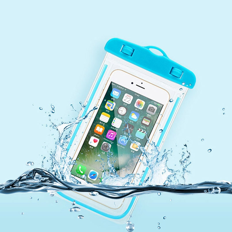 Funda de teléfono Universal impermeable para blu Dash XL G/X2 Life One/Grand Max Energy M X BOLSA DE BUCEO transparente funda luminosa