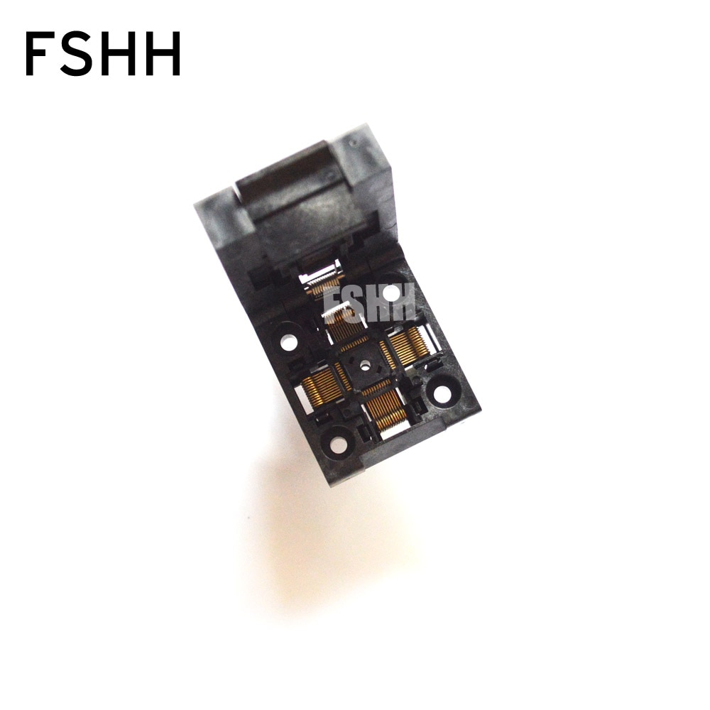10pcs lot stm8s207c6t6 qfp48 Clamshell TQFP48 LQFP48 IC test socket QFP48 socket Pitch=0.5mm Size=7x7mm/9mmx9mm