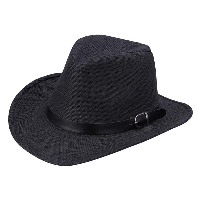 Gorro nuevo UniSex de verano 2019 para mujer, sombrero de paja para hombre, sombrero de vaquero, sombrero negro a la moda