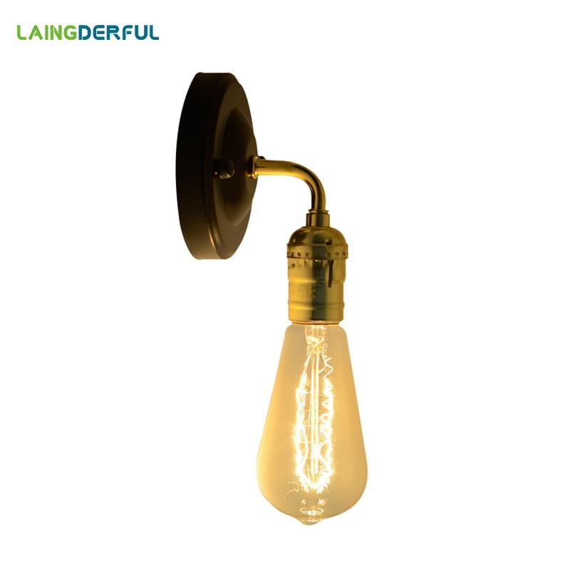 Lámpara de pared vintage Edison, decoración industrial, lámpara de pared metálica E26/E27, lámpara de pared para dormitorio, luces de pared para hogar, Bar, restaurante