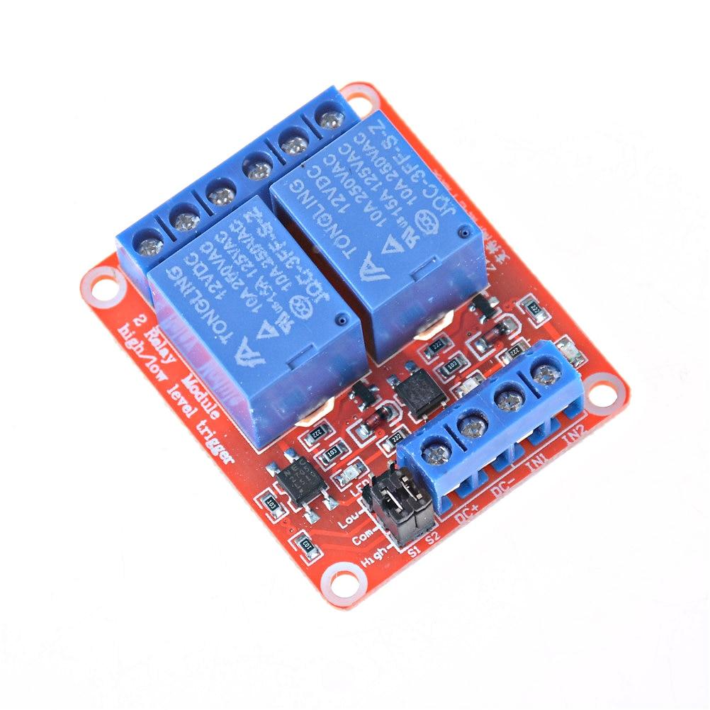 Hot! 12V 2 1PC Módulo de Relé Canal 5V 2-Canal Módulo de Relé Protetor para ARM PIC Ardui AVR DSP Eletrônico