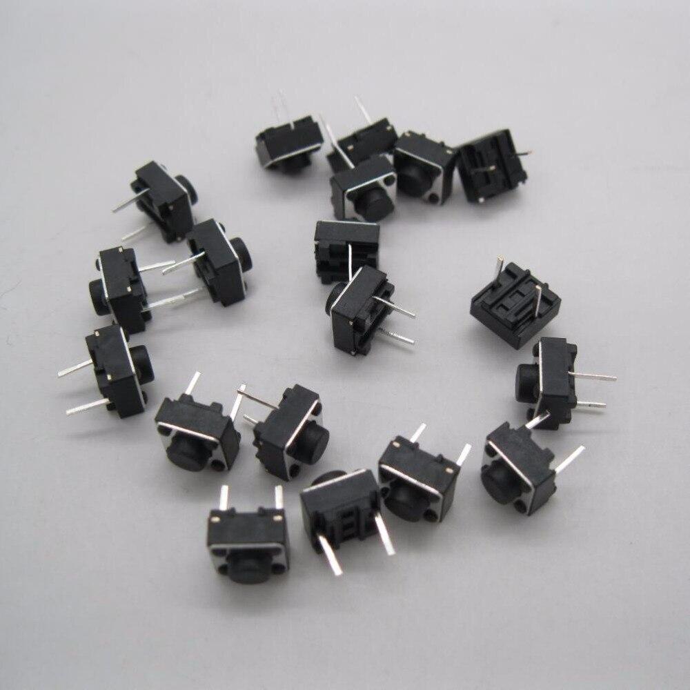 ¡100 Uds 6x6x4! 3/5/6/7/8/9/10mm interruptor de botón táctil momentáneo PCB 2Pin DIP 6x6x4. 3/5/6/7/8/9/10mm
