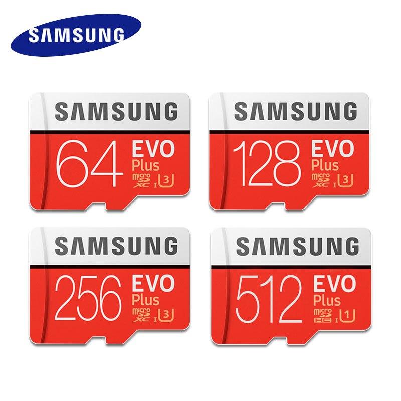 Tarjeta de memoria original SAMSUNG EVO Plus, 32GB, SDHC Class10, tarjeta Micro SD C10 U3, tarjeta TF, Trans Flash SDXC de 64GB, 128GB y 512GB, envío gratuito