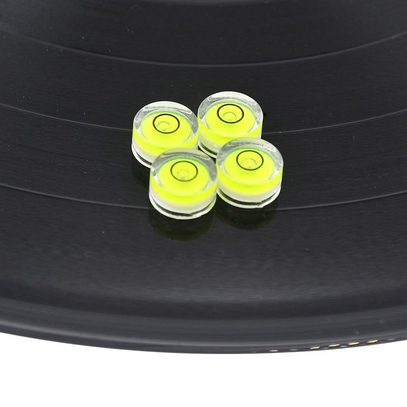 Новинка, 4 шт./партия, Виниловая пластинка LP, поворотная поверхность, спирт, Пузырьковые градусные Тонармы, установочный уровень для патронов, иглы, CD-плеер