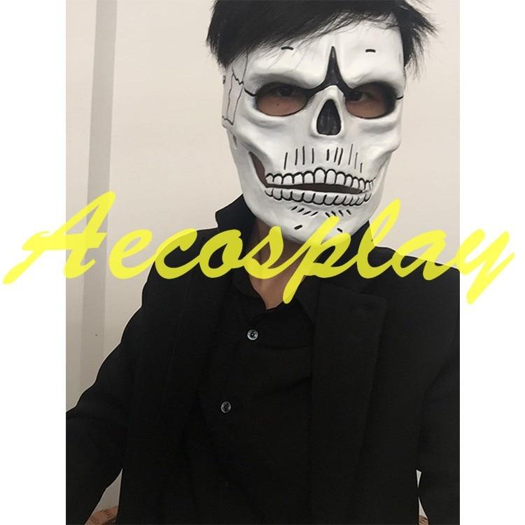 Esqueleto de calavera de Halloween para James Bond 007 Spectre día mexicano de los muertos máscara de fiesta de resina