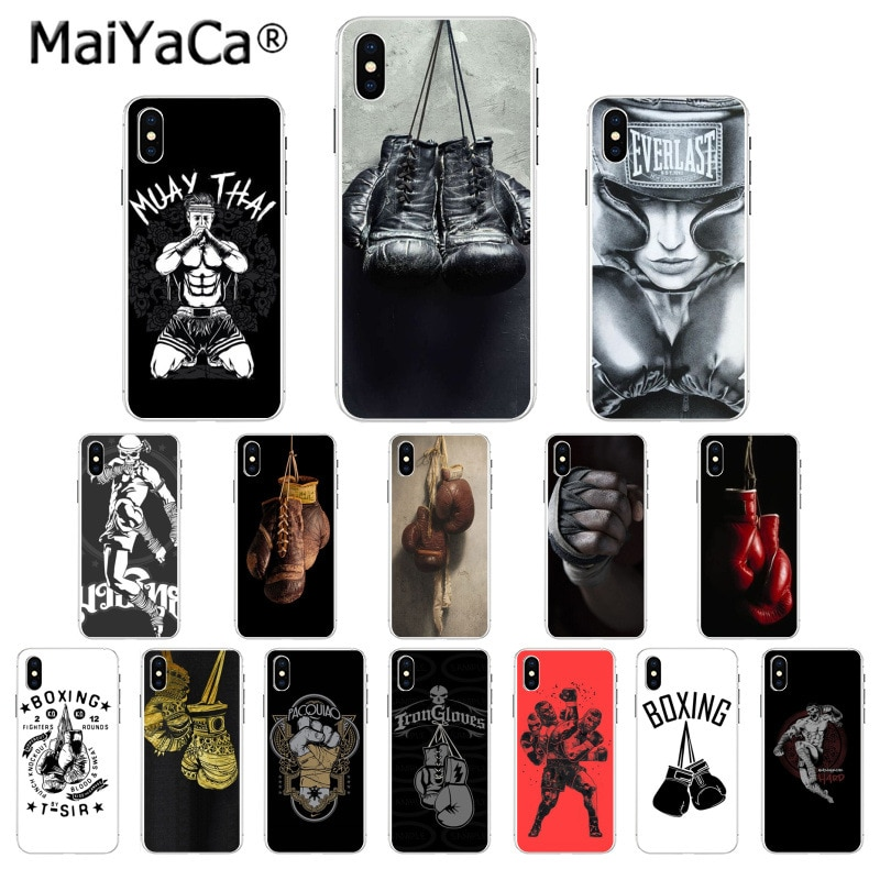 MaiYaCa Muay Thai guantes de boxeo inteligente cubierta del teléfono para el iphone SE 2020 11 pro X XS X MAX 66S 7 7plus 8 8Plus 5S XR