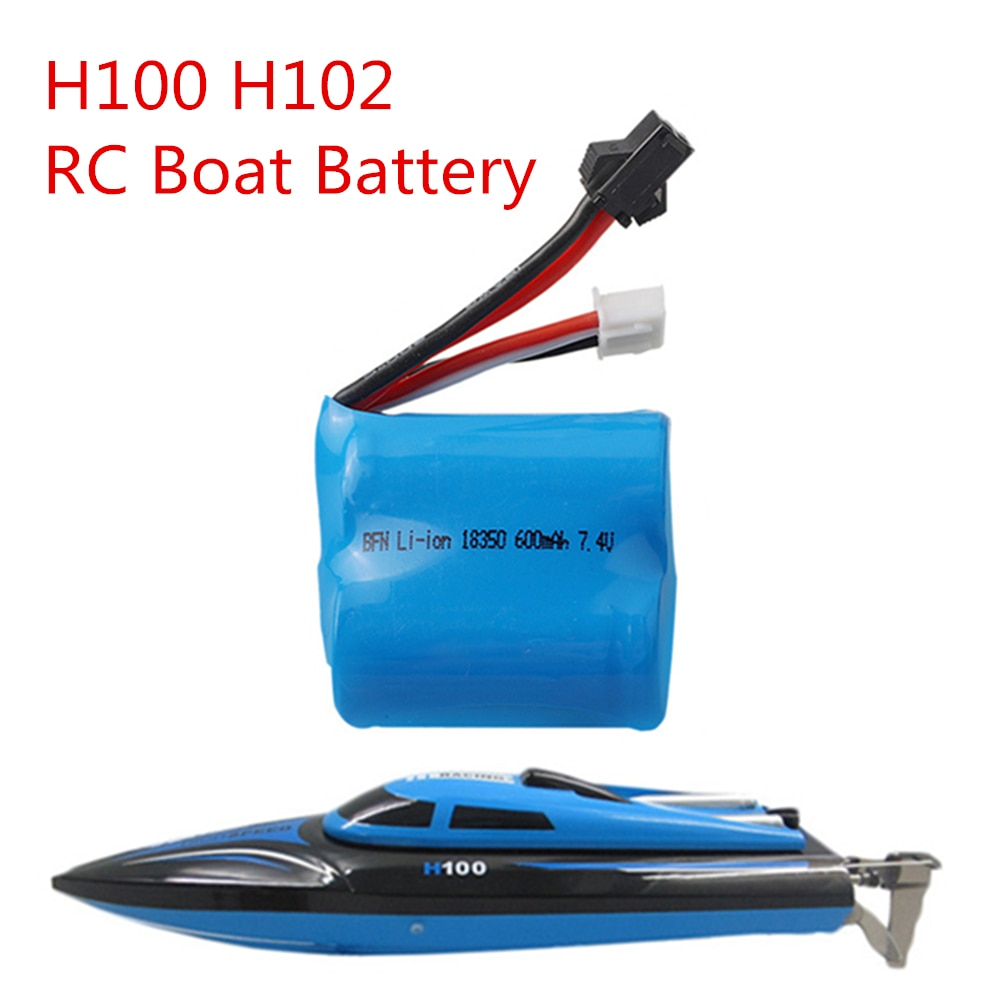 Batería de Li-ion Original 7,4 V 600mAh 18350 para Skytech H100 H102 Control remoto de alta velocidad Barco de carreras 7,4 v 600 mah batería