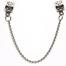 Europe 2016 livraison gratuite chaîne de sécurité perle chaîne argent plaqué perle breloque dans toutes sortes de main caténaire et bracelet