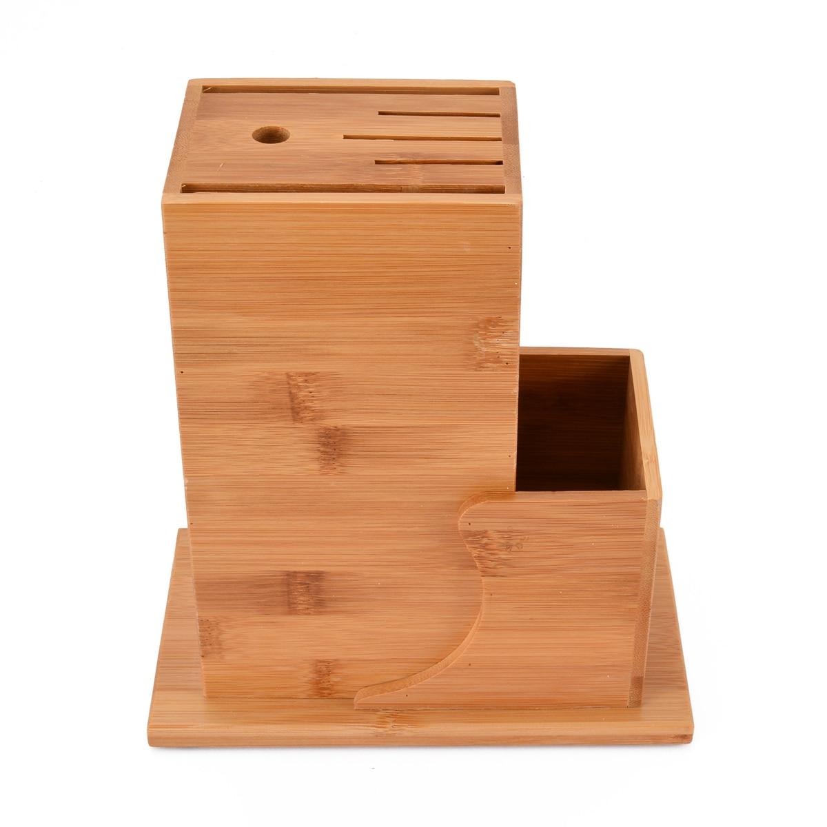 Mayitr Knives Holder Wood Bamboo Kitchen Utensil Holder Block Storage Rack For Home Kitchen Tools Organizer