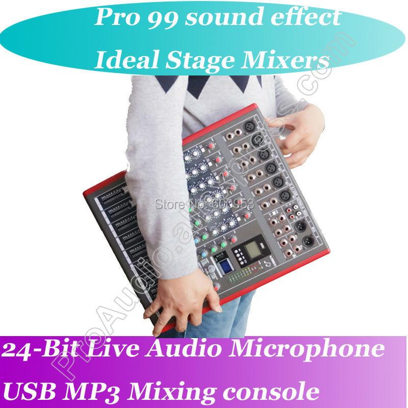 MICWL 6/8/12 звуковой микрофон микшерный пульт 99 аудио эффект USB студийный процессор 24-битный Bluetooth беспроводной микшер
