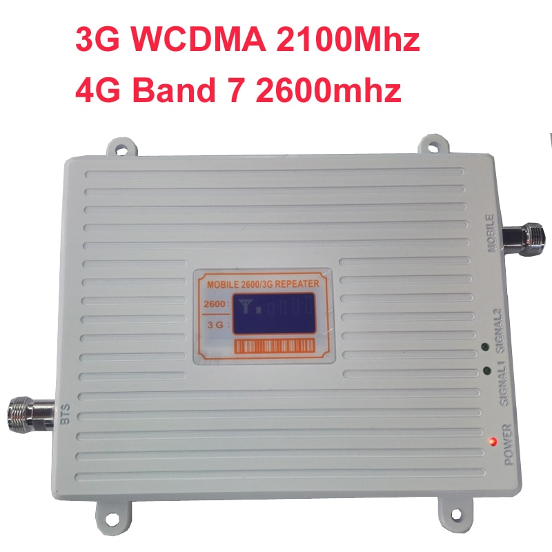 WCDMA 3G 4G amplier BAND7 FDD LTE 4G booster 22dbm 65dbi LCD display 2600mhz 3G 4G booster repeater