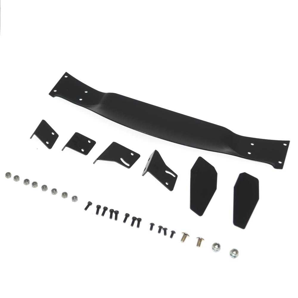 Aluminium alloy wing set Body Rear Spoiler for tamiya TT01 TT02 HSP 1:10 On Road Racing Drift Vehicle enlarge