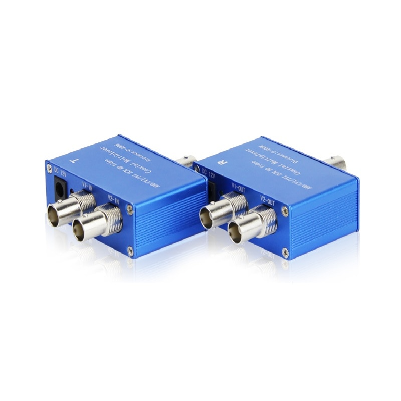 2CH 3MP 2MP 1080P HD AHD CVI TVI Coax Video Signal Multiplexer  Transmitter & Receiver Coaxial Cable Distance 400M enlarge