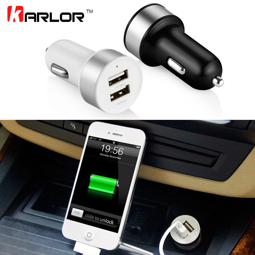 Car Charger Cigarette Lighter Splitter Dual USB Output 3.1A Fast Charge Phone Adapter Cigar Lighter