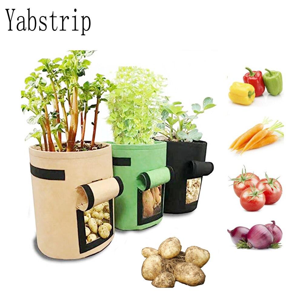 Jardín de casa transpirable tomate patata vegetal moestuin bolsa de crecimiento de plantas jardin Vertical bolsa de cultivo de jardín olla