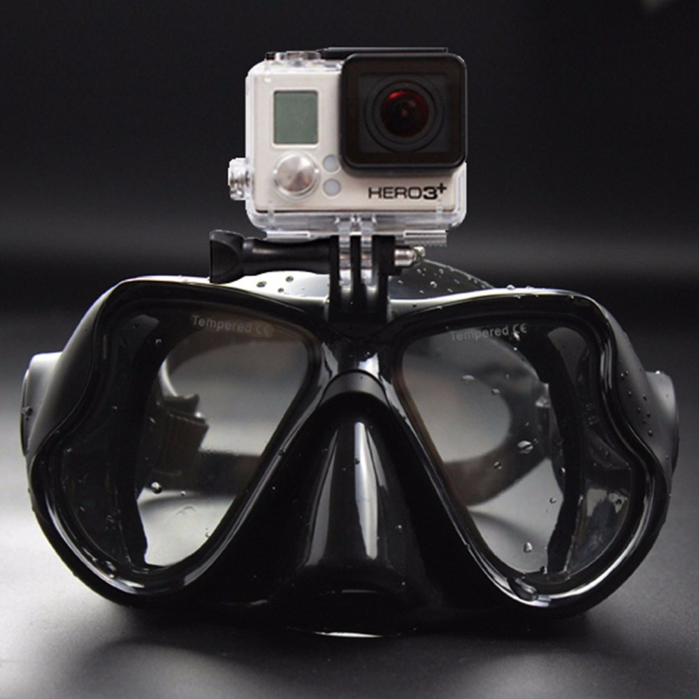 Dropshipping quente profissional câmera subaquática mergulho máscara snorkel natação óculos de proteção para gopro xiaomi sjcam esportes câmera