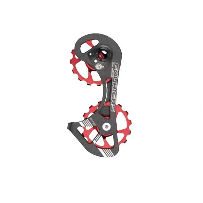 FOURIERS, rodamiento de cerámica completo, tren de transmisión, poleas de desviador trasero de bicicleta 15 T-15 T, uso 9150/9000/9070/6800/6870