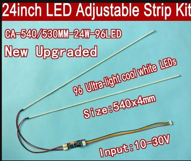 Envío Gratis 15 Uds 24 540mm kit de tira de LED para iluminación trasera de brillo ajustable, actualización 24inch-wide LCD panel de CCFL a luz de fondo LED