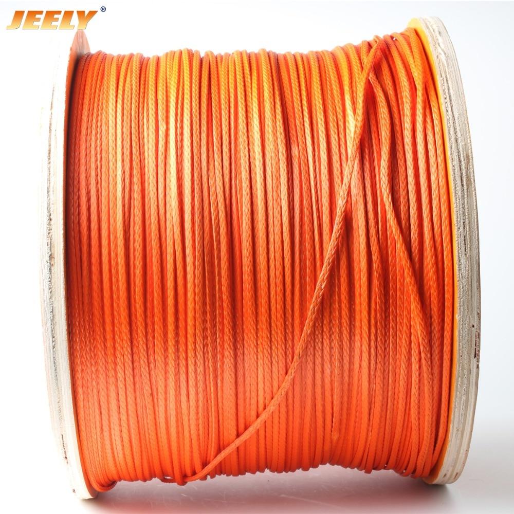 Jeely 12 плетений 3 мм 2000lb 10 м парапланерная лебедка веревка UHMWPE плетеная