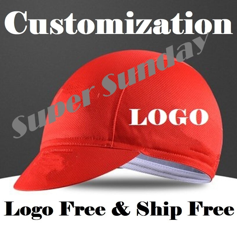 Customized Sports Caps Men's Cycling DIY Headwear 2017 Bike Cap Team Bicycle Racing Head Wear Free Shipping ZLBM1