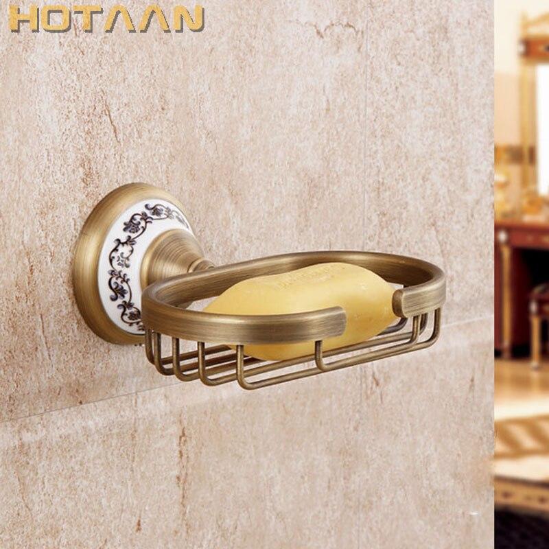 Бесплатная доставка Мода античная латунь мыльница, чистая медь мыльница для ванной комнаты, аксессуары для ванной комнаты YT-11590
