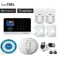 SmartYIBA systeme dalarme de securite   Sans fil  anti-feu vocal  espagnol  russe  italie  sirene sans fil  application