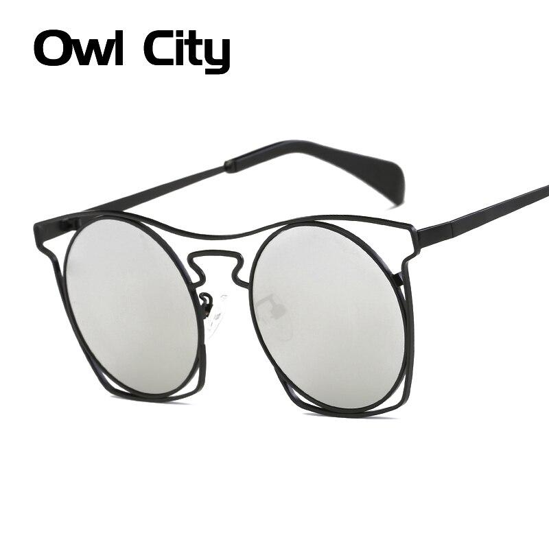Gafas de sol redondas clásicas para mujer, gafas de sol Steampunk clásicas de diseño de marca, gafas de sol Unisex para hombre y mujer, accesorios para gafas huecas UV400
