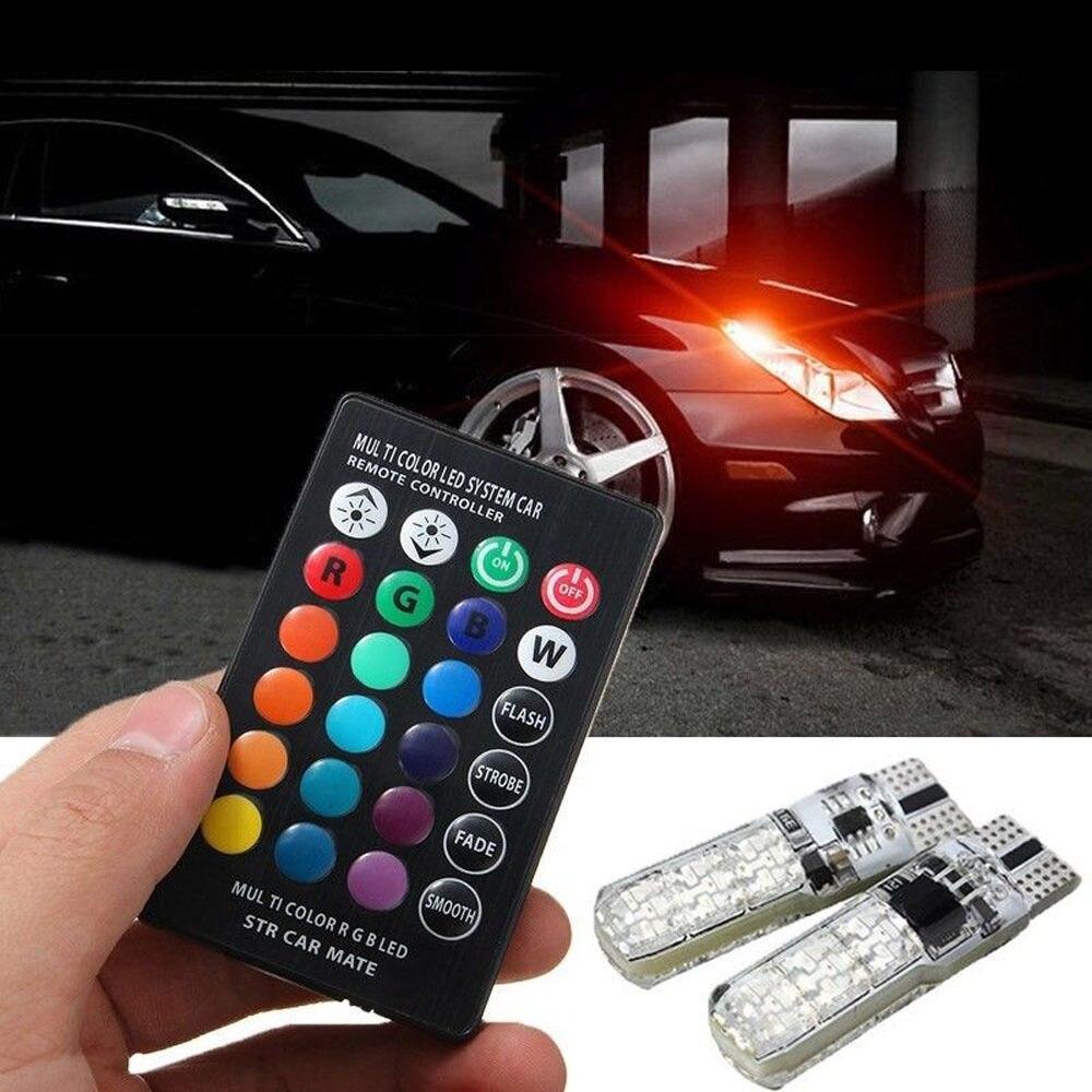 Автомобильные аксессуары T10 W5W ABS светодиодные автомобильные огни RGB с пультом дистанционного управления для Mercedes Benz Amg W204 W203 W211 W205 W124 W205 W210 Glk Gla