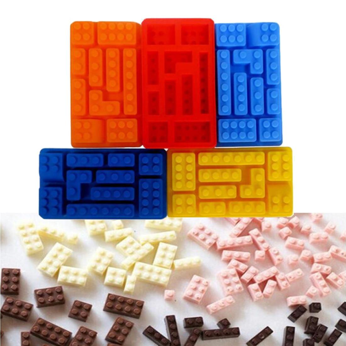 Оптовая продажа 10 отверстий кирпичные блоки формы прямоугольные DIY шоколадные силиконовые формы Горячая Распродажа ледяной куб лоток инст...