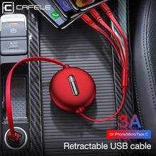 Cafele 3in1 USB Type C Micro USB câble type-c pour iPhone chargeur câble 120cm 3A chargement rapide USB c câble