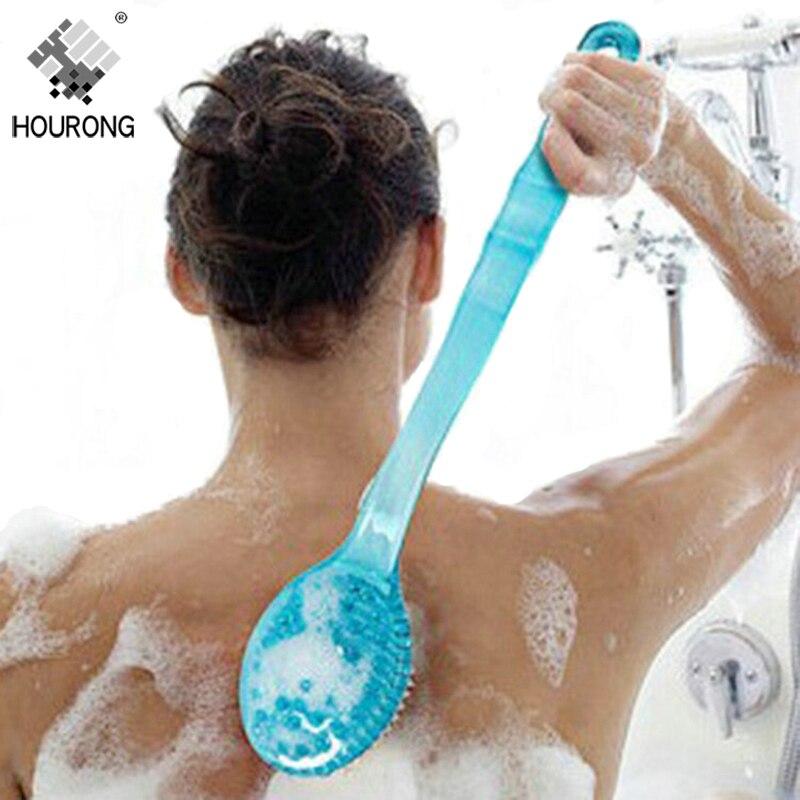 Long Handle Bath Brush Scrubber Skin Care Massage Shower Brush Body Brushes for Back Exfoliation Brush Bathroom Accessories