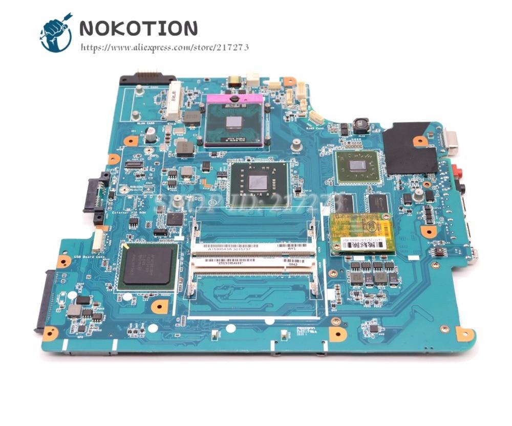 NOKOTION لسوني Vaio VGN-NS اللوحة المحمول A1665245A MBX-195 الرئيسي مجلس PM45 DDR2 شحن وحدة المعالجة المركزية