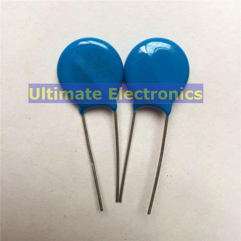 Resistor dependente da tensão do metal dos varistores 14d221k 220v de 50 pces