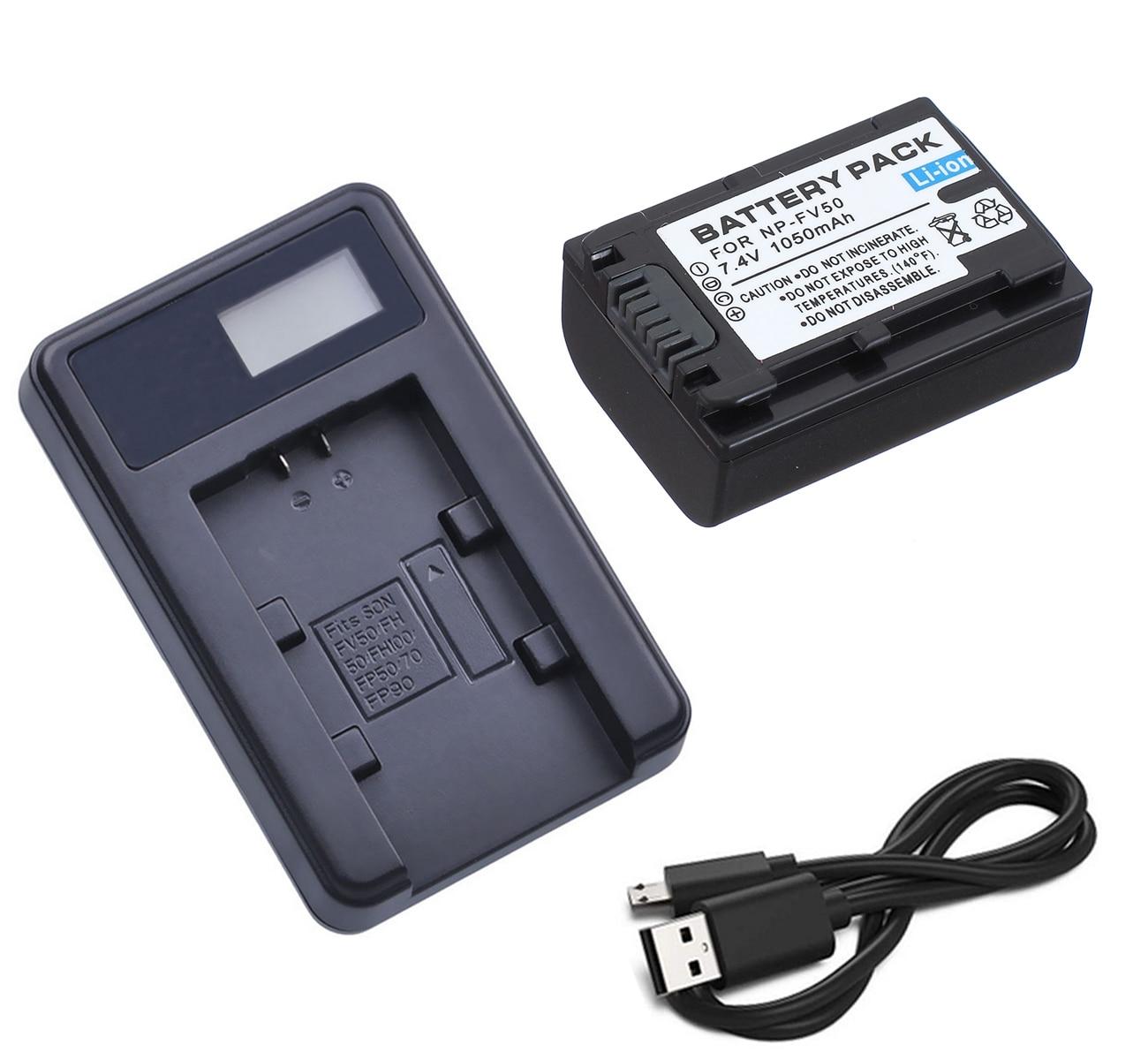 Paquete de batería + cargador para Sony HDR-CX110, CX115, CX116, CX130, CX150,...