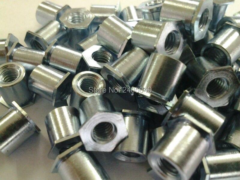 TSOA-6M25-1400  Thin head  threaded  standoffs,  aluminum 6061,nature ,PEM standard,in stock, Made in china,