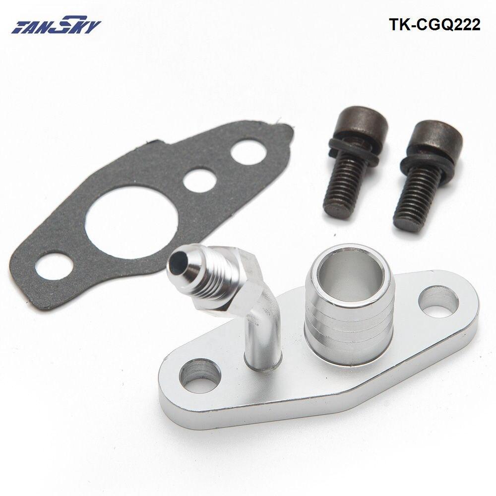 Турбо подачи масла обратный фланец для TOYOTA CT9 CT12 CT20 CT26 4AN корма w/20 мм Барб TK-CGQ222
