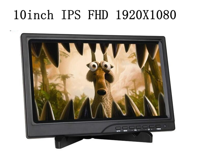 "101 ""portátil Monitor de ordenador PC 1920x1080 HDMI PS3 PS4 Xbox360 1080P IPS LCD pantalla LED Monitor para Raspberry Pi 3 B 2B"