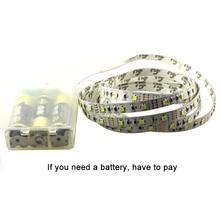 1 M/2 M/3 M/5 M 3 x AA LED à piles bande lumineuse 60 LED s/m DC 5 v 3528 SMD ruban LED bande flexible néon décoration de la maison