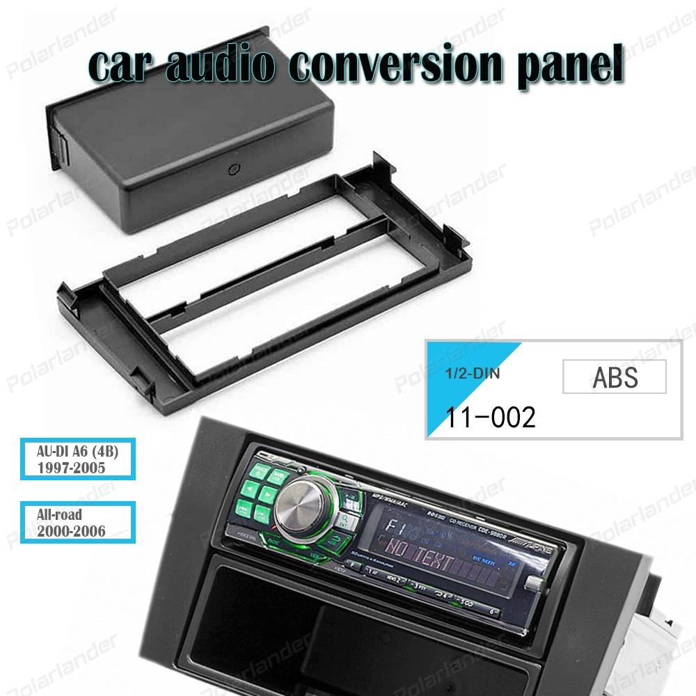 1 DIN/2-2 ディン AU-DI A6 (4B) 1997-2005 すべての 2000 から 2006 abs 材料 CD 修正された表面ボックス元の色