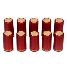10 pcs/lot bouteille de vin couverture bouteille de vin joint Barware accessoires PVC thermorétractable bouchon barre fête fournitures pour brassage à la maison