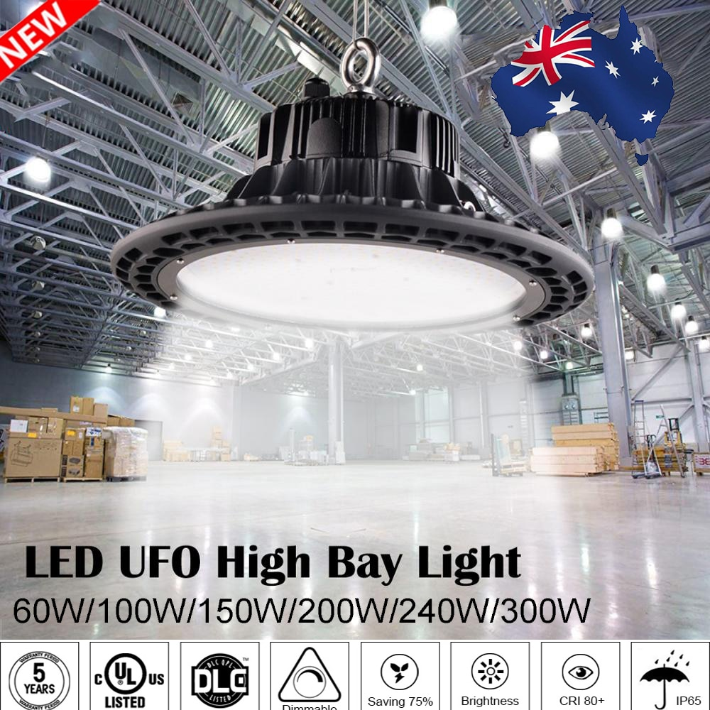 Warranty 5 Years Waterproof Led High Bay Light IP65 Industrial Lamp Workshop UFO Garage Warehouse Stadium Market Air